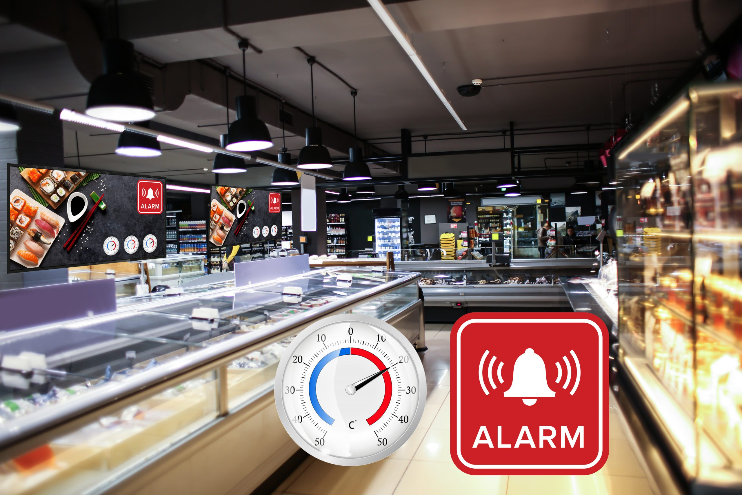 ITMediaConsult AG - Digital Signage IOT Temperatur von Kühltruhen