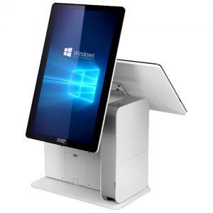ITMediaConsult Hybrid Kassensysteme Dual-Screen Side Weiss