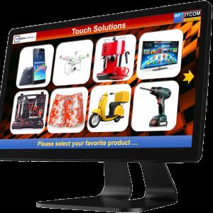 ITMC MediaPresenter 15.6 Zoll Produktpräsentation am POS