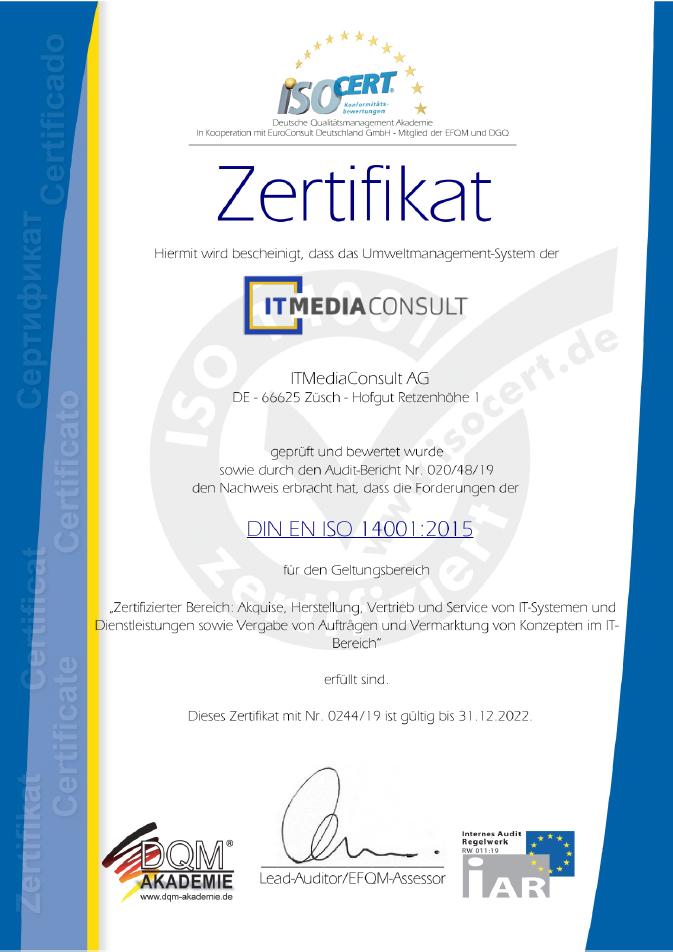 ITMediaConsult DIN ISO 14001