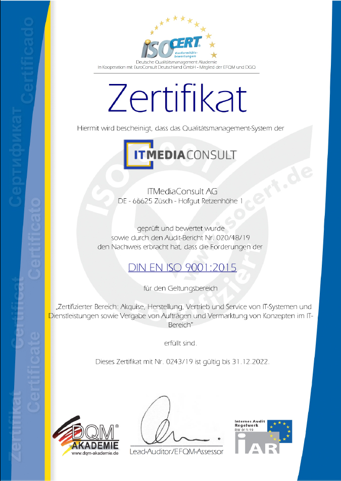 ITMediaConsult DIN ISO 9001